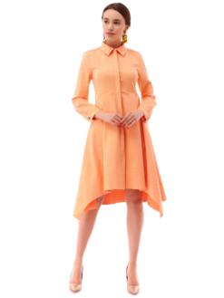 rochie cămașă midi culoarea piersica