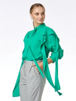 camasa din vascoza verde